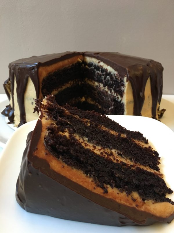 chocolate peanut butter cake punt
