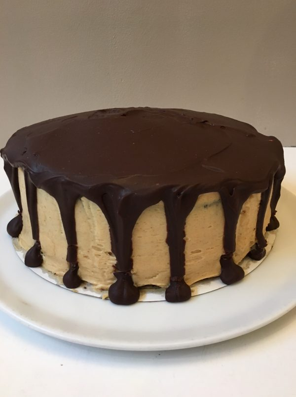 chocolate peanut butter cake voor